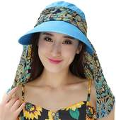 eYourlife2012 Ladies Summer Beach Cotton Big Brim Foldable Sun Floppy Sunblock Hat Hats Visor