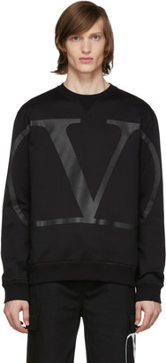 Valentino Black Large VLogo Sweatshirt