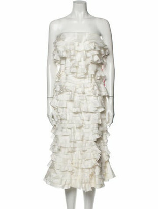 Maggie Marilyn Strapless Knee-Length Dress w/ Tags White