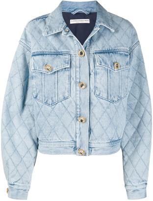 Alessandra Rich Boxy Denim Jacket