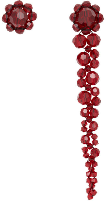 Simone Rocha Red Mini Drip Stud Earrings