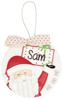 Mud Pie Santa Ornament With Personalization Sticker