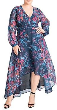 Standards & Practices Carter Floral Print High/Low Maxi Dress