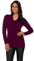 Isaac Mizrahi Live! 2-Ply Cashmere V-Neck Pullover Sweater
