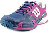 Wilson Women`s Rush Pro 2.0 Tennis Shoes (8, Dark Peony/Pacific Teal/ULT) (6.5)
