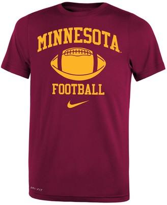 Nike Youth Maroon Minnesota Golden Gophers Retro Lockup Legend Performance T-Shirt