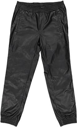 Shine Black Trousers for Women