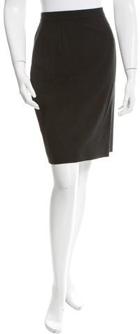Isaac Mizrahi Wool Knee-Length Skirt