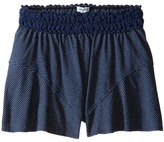 Splendid Littles Indigo Lace Waistband Shorts Girl's Shorts