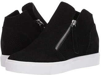 Steve Madden Caliber Wedge Sneaker (Black Suede) Women's Shoes