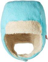 Zutano Cozie Fleece Furry Trapper Hat (Toddler) - Pool - 2T