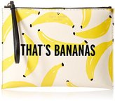 Kate Spade Flights Of Fancy Thats Bananas Medium Bella Pouch, Yellow/Multi, One Size