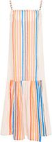 Lemlem Candace Striped Cotton-Gauze Midi Dress