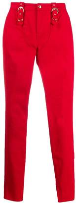 Versace zipped-hem skinny trousers