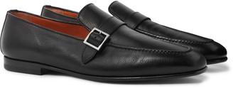 Santoni Full-Grain Leather Loafers