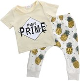 "Albee Yang Baby Boys Short Sleeve ""PRIME"" Print T-shirt and Harem Pants Outfit Set"