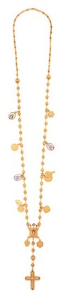 Dolce & Gabbana Charm Rosary Necklace - Womens - Gold