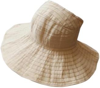 Elonglin Womens Beach Hat Visor Roll Up Sun Hat Wide Brim Foldable Beach Cap for Summer Travel Beige