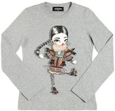 DSQUARED2 Girl Printed Cotton Jersey T-Shirt