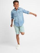 Gap Poplin flat front shorts