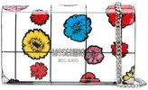 Moschino floral print chain wallet