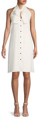 Lafayette 148 New York Bow-Front Sleeveless Shift Dress