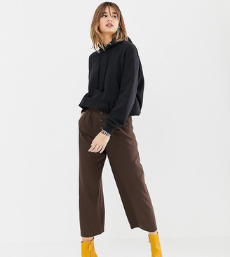 Stradivarius high waisted wide leg pant with button detailing