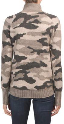 Mock Neck Camo Sweater