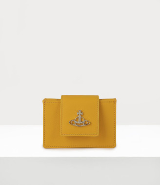 Vivienne Westwood Pimlico Card Holder With Strap Yellow