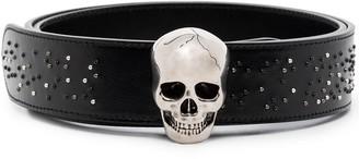 Alexander McQueen Skull buckled belt