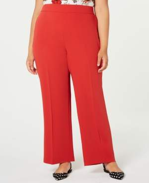 Bar III Trendy Plus Size Flare-Bottom Pants, Created for Macy's
