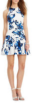 Lauren Ralph Lauren Floral Ponte Drop-Waist Dress