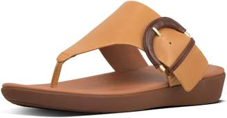FitFlop Annelia Buckle Leather Toe-Thongs