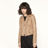 Maje Leather jacket with quilting