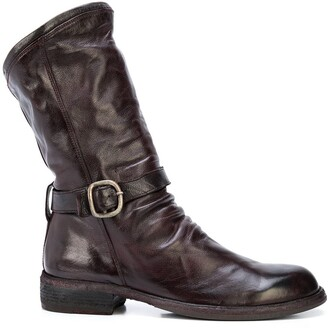 Officine Creative Creased Buckle Boots