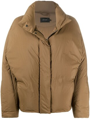 Low Classic Funnel-Neck Quilted Jacket