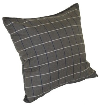 "Red Barrel Studio Escamilla Outdoor Square Pillow Cover & Insert Color: Cottage Gray, Size: 15"" H x 15"" W"