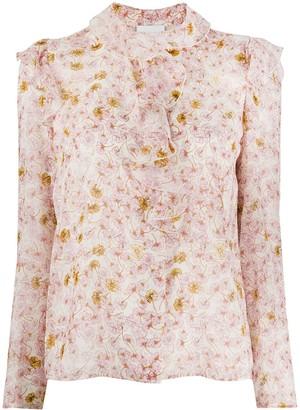 Giambattista Valli Ruffled Floral-Print Blouse