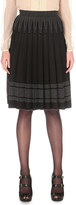 Alexander McQueen box-pleat stretch-knit skirt