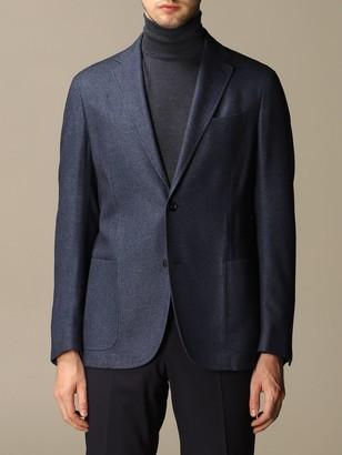 Ermenegildo Zegna Blazer Jacket In Silk And Cashmere