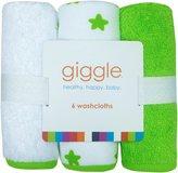 giggle Washcloth Set - Star - 6 ct