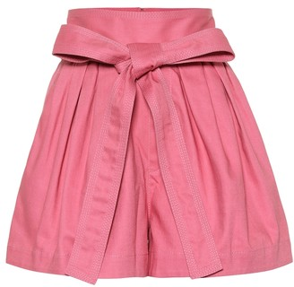 Marc Jacobs Belted cotton twill shorts