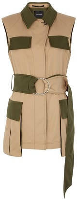 Palones Notting Hill Camel Belted Twill Gilet