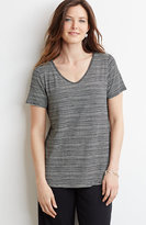 J. Jill Wearever Printed V-Neck Top