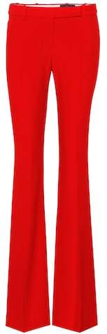 Alexander McQueen Flared crêpe trousers