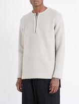 Yohji Yamamoto Textured wool-blend jumper