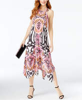 INC International Concepts Petite Printed Handkerchief-Hem Dress, Created for Macy's