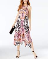 INC International Concepts Petite Printed Handkerchief-Hem Dress, Only at Macy's