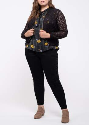 Blu Pepper Perch by Sheer Lace Jacket (Plus Size)