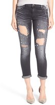 Women's True Religion Brand Jeans Liv Embellished Distressed Skinny Jeans